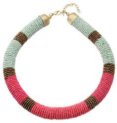 @Bijou Brigitte necklace / Colla @Bijou Brigitte  Color #coral y colora #azulturquesa en tu #cuello.
