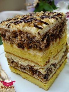 Good Food, Yummy Food, Unique Desserts, Cake Bars, Polish Recipes, Food Cakes, Homemade Cakes, Something Sweet, Cake Cookies