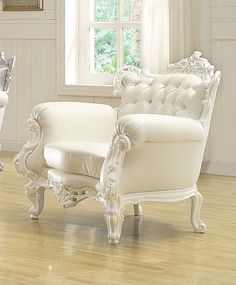 Nels White Frame Accent Chair 59137