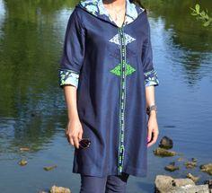 Robe Djellaba en jean : Chemises, blouses par jasmine-for-kids