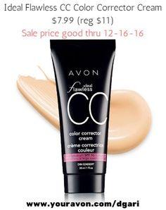 Avon CC Cream corrects & hides uneven & dull skintone, creating a luminous look. https://www.avon.com/product/cc-color-corrector-cream-50488?rep=dgari #avon #color #corrector #makeup #RT