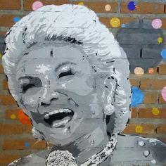 Hebe Camargo - Stencil