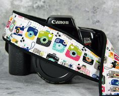 dSLR or SLR Camera Strap Retro Cameras Available by CoopersCollars