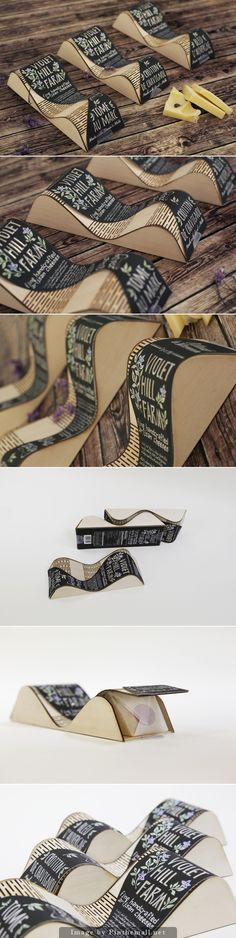 Violet Hill Farm interlocking cheese packaging by Rong Yan