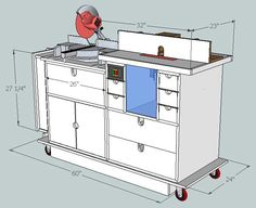 Miter saw workcenter woodworking plan this woodworking plan miter saw router table greentooth Images