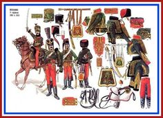 French Hussars of the 7th regiment 1801 to 1815
