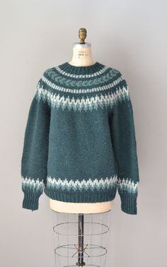 fair isle sweater / folk wool sweater / North by DearGolden
