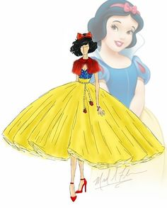 Okay admit it, you've dreamed about being a Disney Princess at least once. Michael Anthony designs debuted a Disney Disney Princess Fashion, Disney Princess Snow White, Disney Princess Dresses, Princess Art, Disney Dresses, Princess Style, Disney Style, Robes Disney, Disney Divas