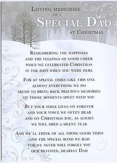 Grave Card / Christmas - Special Dad - FREE Holder-CM18 in Other Memorials & Funerals   eBay