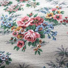 Bettina vintage cotton barkcloth from Folly&Glee