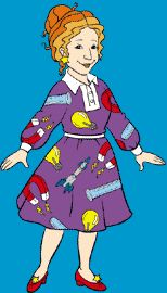 Mrs. Frizzle (The Magic Schoolbus). Though not actually a librarian, I believe, in essentials, she basically was one.