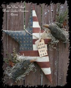 Primitive Americana Star Hanger with Crows e-Pattern