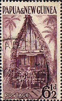 Papua New Guinea 1952 SG 7 Kiriwina Yam House Fine Used Scott 129 Other European and British Commonwealth Stamps HERE!
