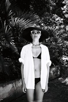The white shirt: a beach travel essential. Perfect as a bikini cover-up / the love assembly