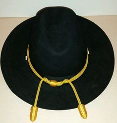 d0a5eeb5b92 Vintage STETSON Size 7 Black Calvary United Hatters Cap   Millinery UNION  MADE  Stetson. Reminisce On This · Vintage Hats