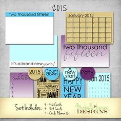 A new year freebie that can be used with Project Life/Pocket pages or print the pdf's included in the set to use on traditional scrapbook pages. It's FREE! Project Life Scrapbook, Project Life Layouts, Project Life Cards, Mini Albums, Mini Scrapbook Albums, Scrapbook Pages, Life Journal, Journal Cards, New Years Eve Day