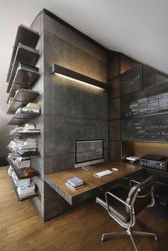 industrial style men office design