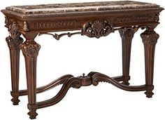 Cheap Ashley Furniture Signature Design – Casa Mollino Console Sofa Table – Traditional Styling with Ornate Accents – Dark Brown Cool Tables, Cool Coffee Tables, Coffee Table With Storage, Living Room End Tables, Entryway Tables, Foyer, Bliss Home And Design, Made Of Wood, Signature Design