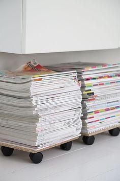 almacenar tus revistas #revistero #diy #revistas #madera #ruedas #facil #almacenaje #archivador #wood #wheels #revisteromovil #arcon