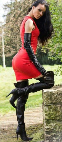 """Red knit minidress  Black opera gloves  Black thigh boots Everyone loves girls in stockings and underwear. Our <a href=""""https://www.pornotuta.com/"""">girls in stockings</a> are looking very cool!   girls in stockings short skirts 
