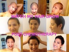 It May Not Seem Like Your Hair Is Growing after Chemo, But It Is! Watch Nalie's Transformation! | The Breast Cancer Site Blog  i love how happy she is for every stage of hair growth.