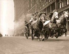 Chicago, 1920, rushing to put out a fire