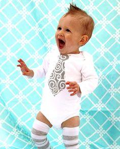 Baby tie onesie