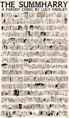 Harry Potter, la saga résumée en un poster