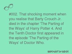 This would make me laugh if it werent completely inaccurate...Barty Crouch Jr didnt die....he had his soul sucked out by a dementor...
