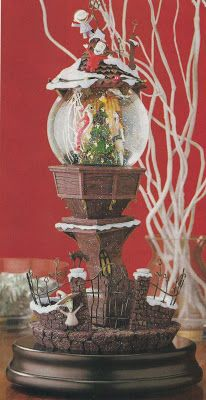 Disney Snowglobes Collectors Guide: Nightmare Before Christmas Pedestal Snowglobe