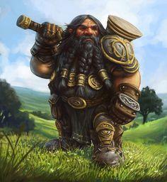 Brenwar the Dwarf by SHAWCJ on DeviantArt #dwarf #rpg #d&d