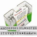 Newsprint typewriter NEW FONT metal alphabet letter stamps by Impressart - UPPERCASE 3mm with BoNuS