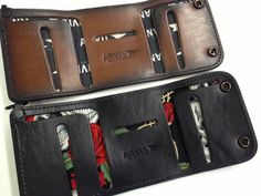 Trifold Leather Chain Wallet - Anvil Customs  - 12
