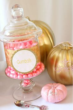 Gold Pumpkins are in!! - Cinderella's Gold Pumpkin Party at www.thesunshinepartystudio.com