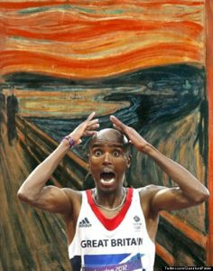 The Scream | Picture Of The Day: Mo Farah Stars In Edvard Munch's 'The Scream'