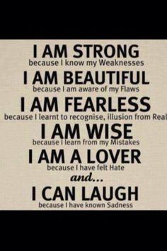 Our flaws make us stronger... <3