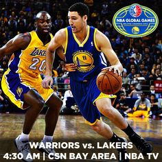 It's GAME DAY!!! What better way to start out your Friday morning than with some Dubs basketball. The finale of the 2013 #NBAGlobalGames tips off shortly as the Warriors take on the Lakers in Shanghai. Watch the action live on Comcast SportsNet Bay Area and/or NBA TV.
