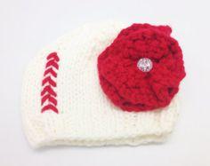 Sombrero del Knit del Softbol por SnazzySportsCo en Etsy