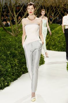 Christian Dior Couture Spring 2013 So cute!!! I love the wedding pantsuit for tomboys