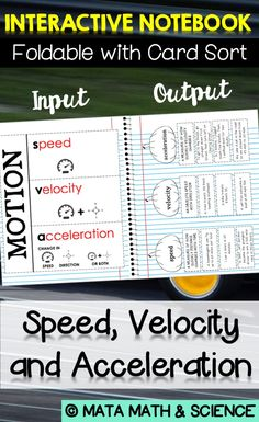 Speed acceleration activity the case of the murdered mascot speed velocity and acceleration foldable notes and card sort for isn fandeluxe Gallery