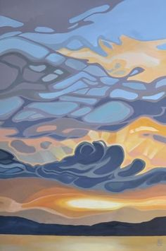 The Great Escape: Featuring landscapes by Erica Hawkes & Laura Culic — Ottawa Art and Framing Abstract Landscape, Landscape Paintings, Abstract Art, Watercolor Landscape, Painting Inspiration, Art Inspo, Canadian Artists, Canadian Painters, Land Art