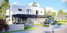 Projekt domu HomeKoncept-52 D 188,62 m2 - koszt budowy - EXTRADOM Small Office Design, Office Interior Design, Home Fashion, Mansions, House Styles, Outdoor Decor, Home Decor, 2nd Floor, House Architecture