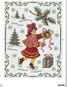 Points de croix *@* Noël kerst