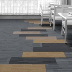 Interface Floor Design                    | B702: Caspian, B701: Driftwood, B703: Driftwood, B702: Sand, B703: Black Sea, B701: Black Sea,  B702: North Sea,  B701: North Sea |                    Find inspiration for your next interior design project with floors composed of modular carpet tiles from Interface