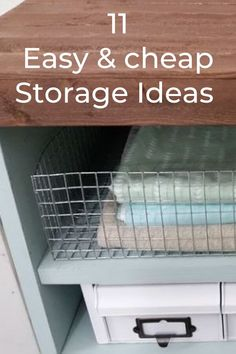 Get on your new years resolution to have an organized home. De clutter and make these cheap storage ideas and tips. Dollar store organization ideas. #hometalk