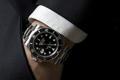 The power of seduction is strong with the Rolex Submariner in this vintage Rolex Magazine ad from the Swiss Made Watches, Swiss Army Watches, Patek Philippe, Cool Watches, Rolex Watches, Hand Watch, Best Mens Fashion, Vintage Rolex, Rolex Submariner