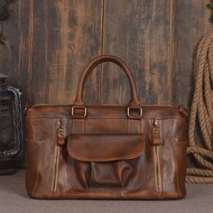 "ROCKCOW Leather Unisex Real Leather Messenger Bag for Laptop Briefcase Satchel Bag 9014 Model Number: 9014 Dimensions: 14.9""L x 5.9""W x 9.0""H / 38cm(L) x 15cm(W"