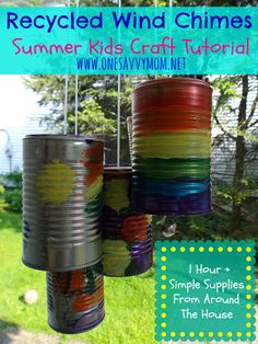 One Savvy Mom™ | NYC Area Mom Blog | Family Lifestyle : Recycled Wind Chimes - Summer Kids Craft Tutorial