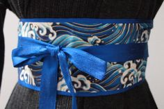 LUXE cobalt blue Dupioni silk -  Royal blue gold waves - Figure slimmer - Waist cincher by MyDivineBoutique on Etsy https://www.etsy.com/listing/193774838/luxe-cobalt-blue-dupioni-silk-royal-blue