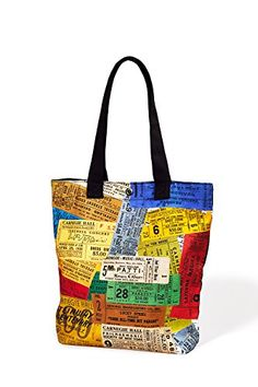 Carnegie Hall Vintage Tickets Canvas Tote Bag * Check out this great product. (This is an affiliate link) #TravelTotes